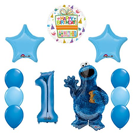 Sesame Street Cookie Monsters 1st Birthday party supplies