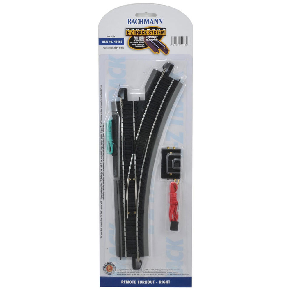 Bachmann Trains HO Scale Right Turnout Snap Fit EZ Track Model Train System