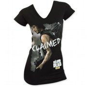 Walking Dead 24831S The Womens Claimed Black T-Shirt, Small