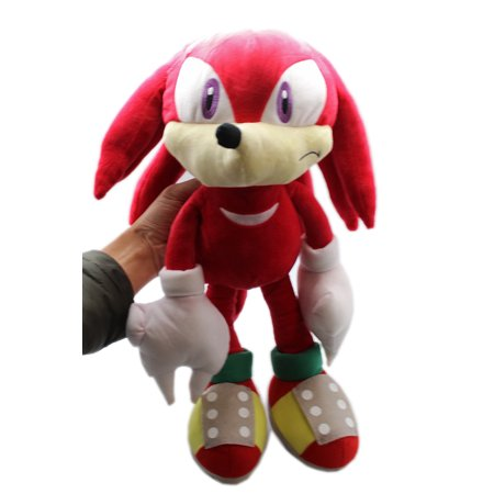 Sonic the Hedgehog Knuckles Large Red Kids Plush Toy w/Small Zipper Pocket - Is Knuckles A Hedgehog