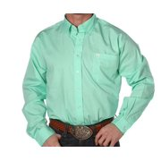 Cinch Mens  Mint  Pinpoint Oxford Long Sleeve Shirt 3X XXX-Large Green
