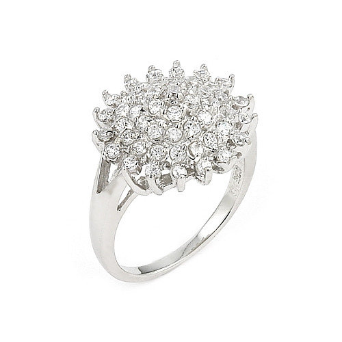 Plutus Partners Cubic Zirconia Flower Ring