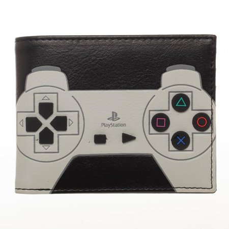 Wallet - Playstation - Bi-Fold w/3D Rubber Buttons New mw6seyspn