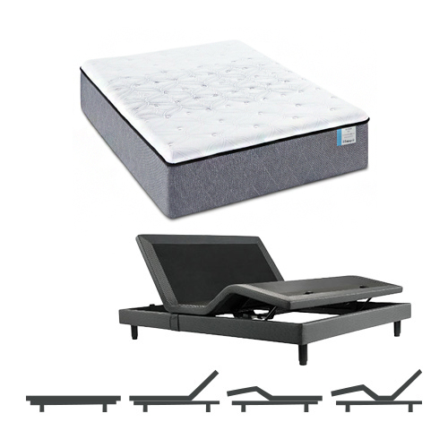 Drakesboro TwinXL Size Firm Mattress and Adjustable Base Sealy Posturepedic