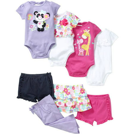 Garanimals Newborn Baby Girls' Kid-Pack Mix and Match 8 Piece Gift Box
