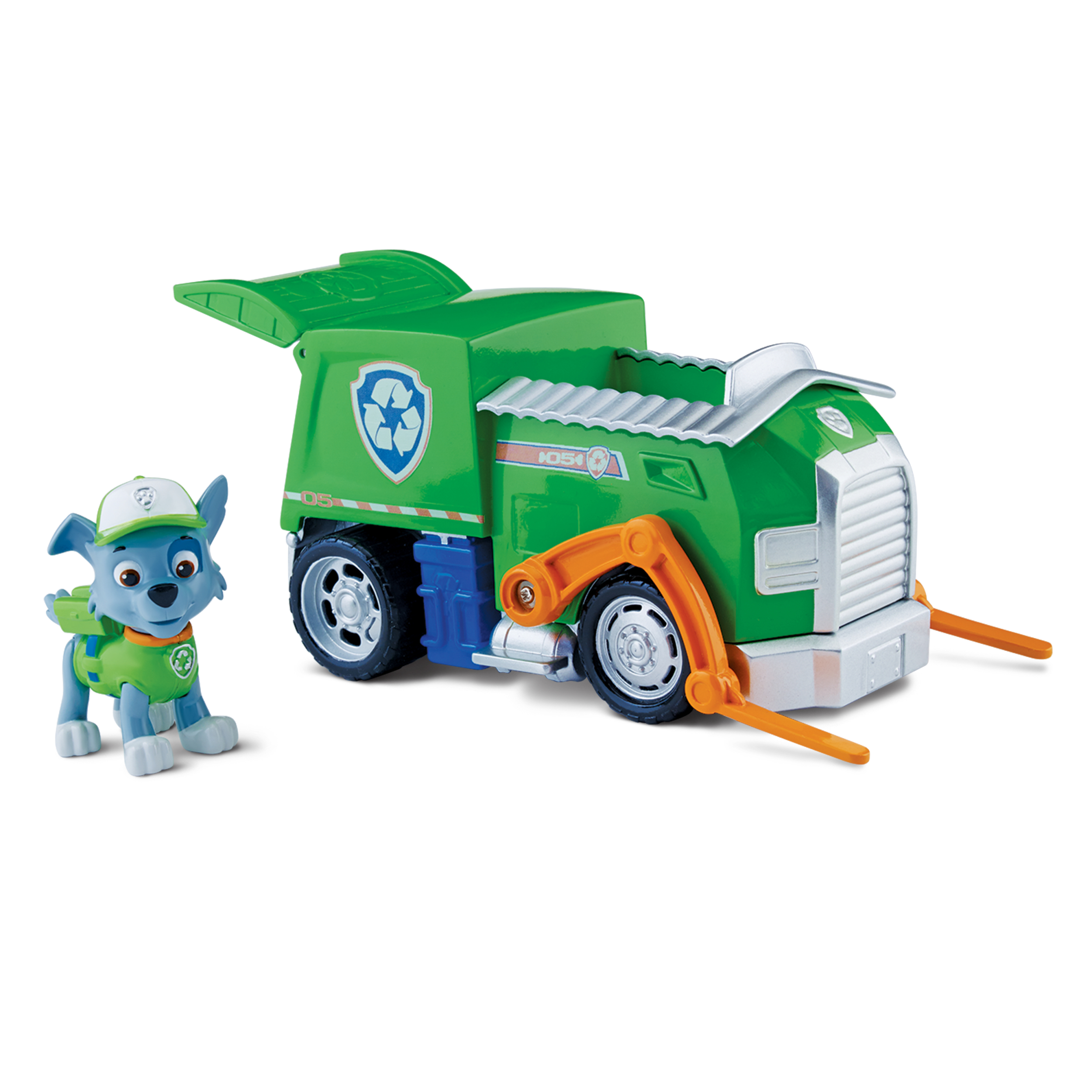 Paw Patrol Rocky′s Recycling Truck, Vehicle and Figure