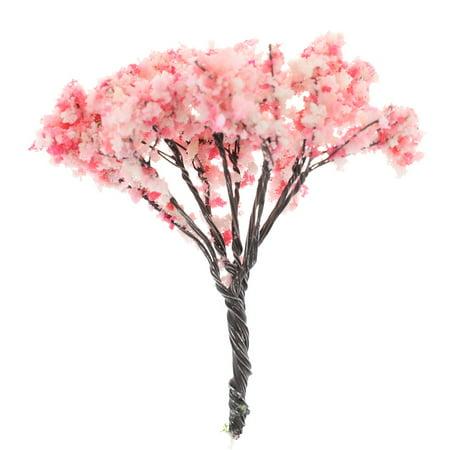 SHOPFIVE 1pcs Mini Cherry Tree Artificial Flower Bouquet Green Leaf Safflower Tree DIY Home Micro landscape Party Wedding Decor Flowers