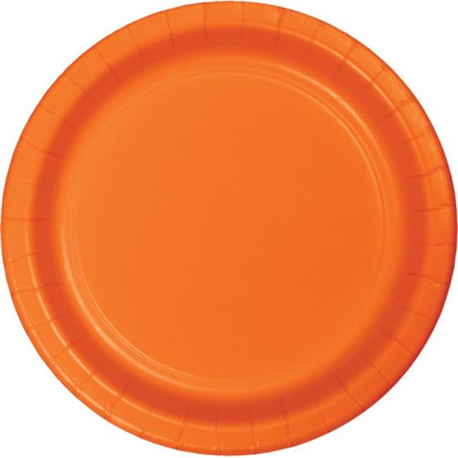 Hoffmaster Group 553282 9 in. Dinner Plate, Orange - 8 per Case - Case of 12