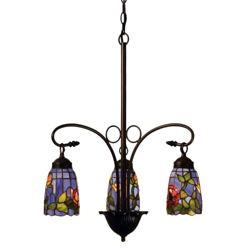 "Meyda Tiffany 27414 Rosebush 3 Light 23"" Wide Chandelier with Tiffany Glass Shad by Meyda Tiffany"