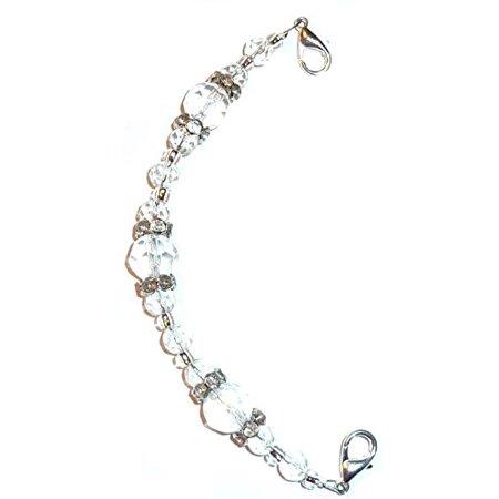 - Hidden Hollow Beads Crystal women's Medical Alert ID Interchangeable Replacement Bracelet