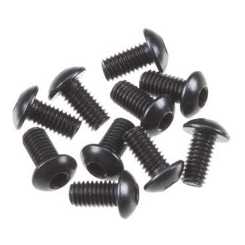AXA0113 M3x6mm Hex Socket Button Head Black (10pcs) Multi-Colored