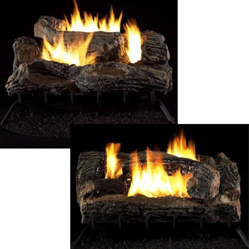"Multi-Sided Vent Free 27"" Gas Logs with Millivolt Control - LP"