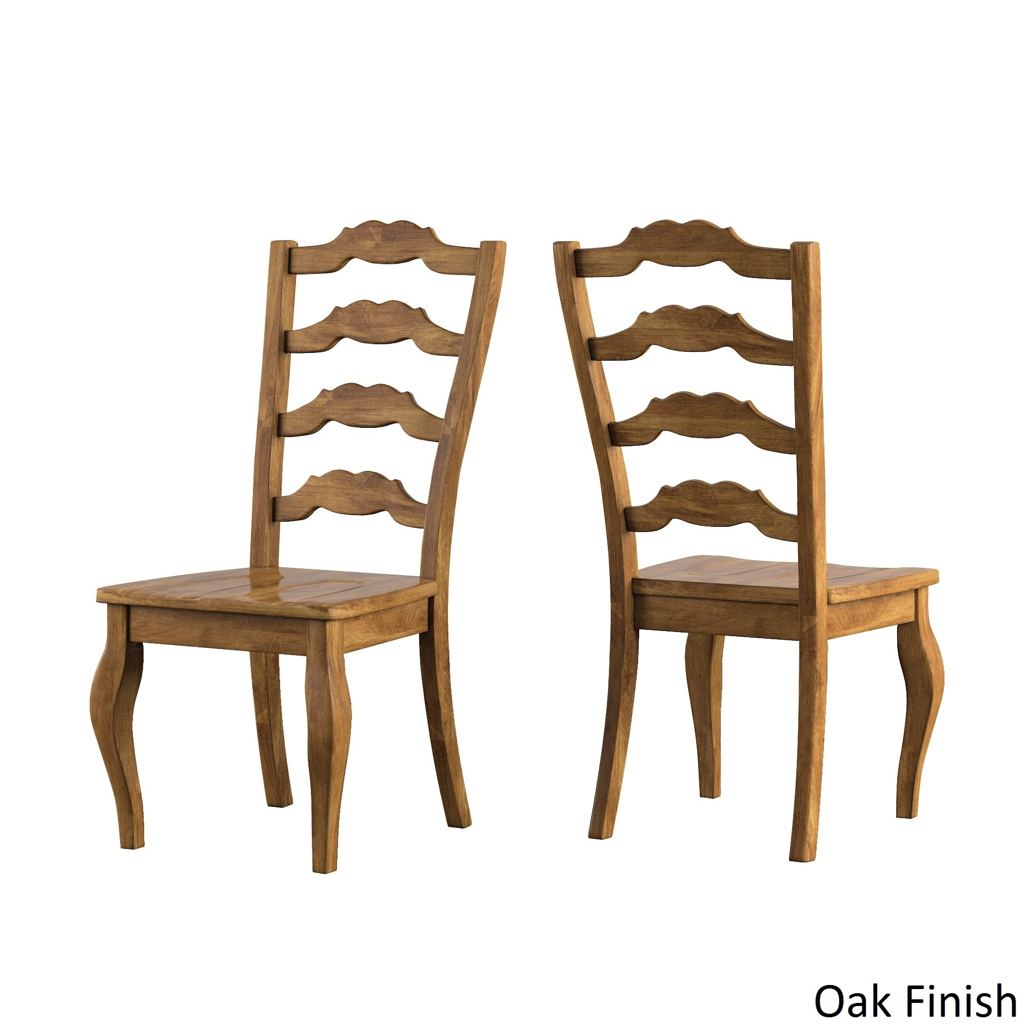 Tribecca Home Eleanor French Ladder Back Wood Dining Chair (Set Of 2) By