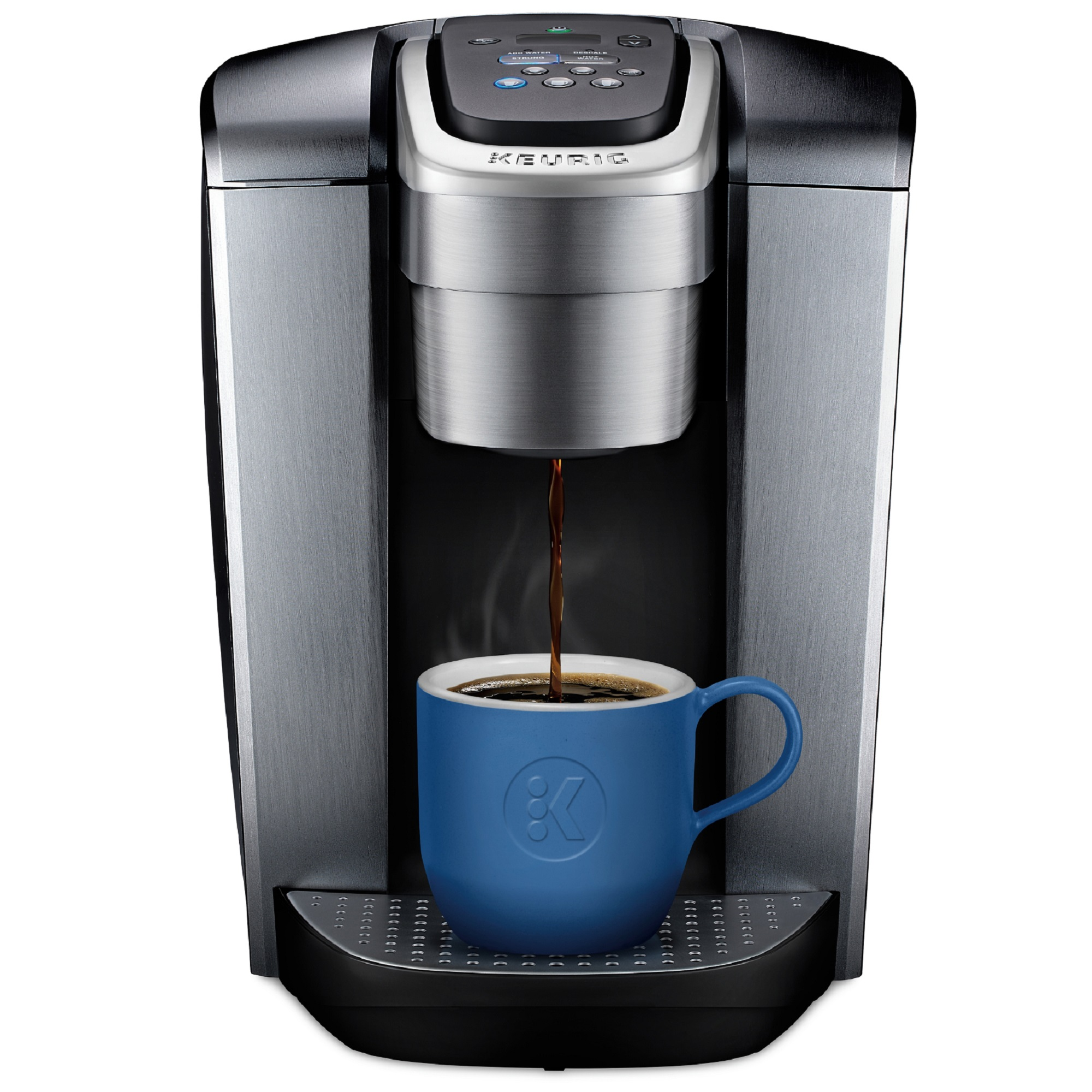 Keurig K-Elite, Single Serve K-Cup Pod Coffee Maker, Brushed Silver
