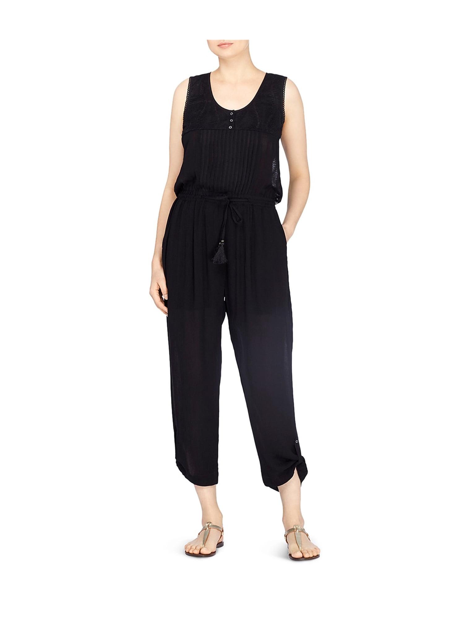 e6df5630852 Catherine Malandrino Womens Embroidered Jumpsuit blackbeauty XL