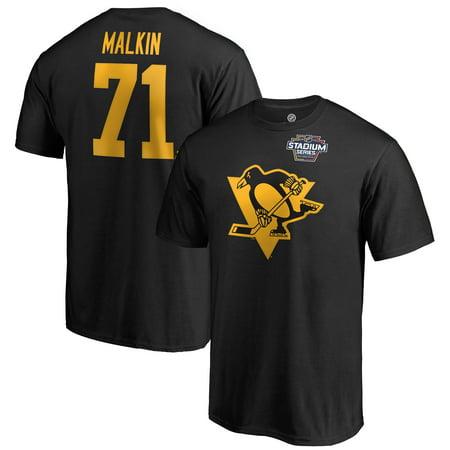 Evgeni Malkin Pittsburgh Penguins Fanatics Branded 2019 NHL Stadium Series Name & Number T-Shirt - Black