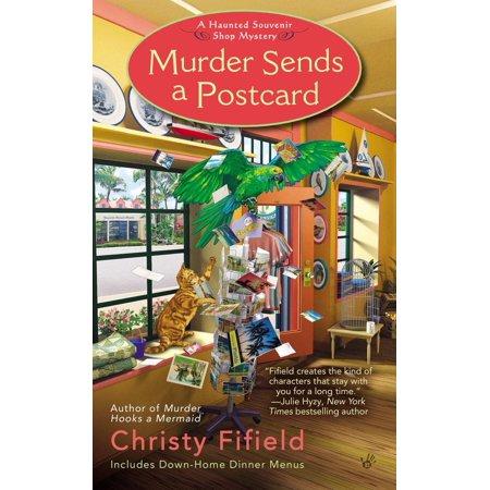 Murder Sends a Postcard Souvenir Postcard Folder