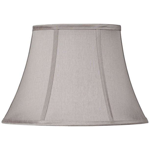 Brentwood Pewter Gray Oval Lamp Shade 7 9x13 15x10 5 Spider