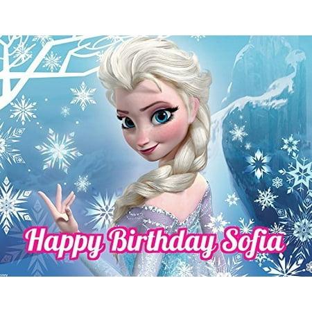 Frozen Elsa Anna Edible Image Photo Cake Topper Sheet Personalized Custom Customized Birthday Party - 1/4 Sheet - 74501 (Cake Toppers Frozen)