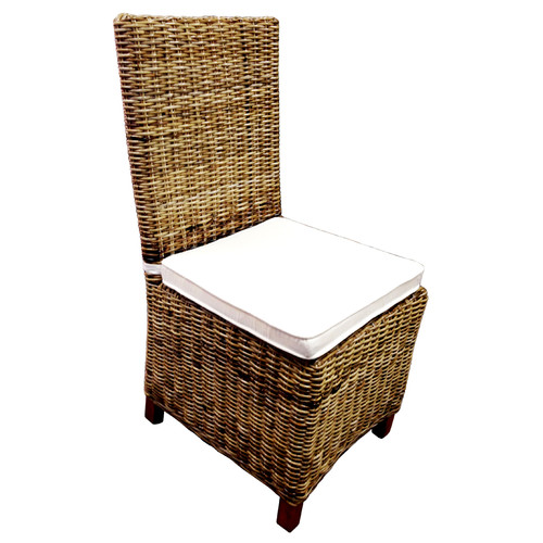 D-Art Collection Patio Dining Chair with Cushion