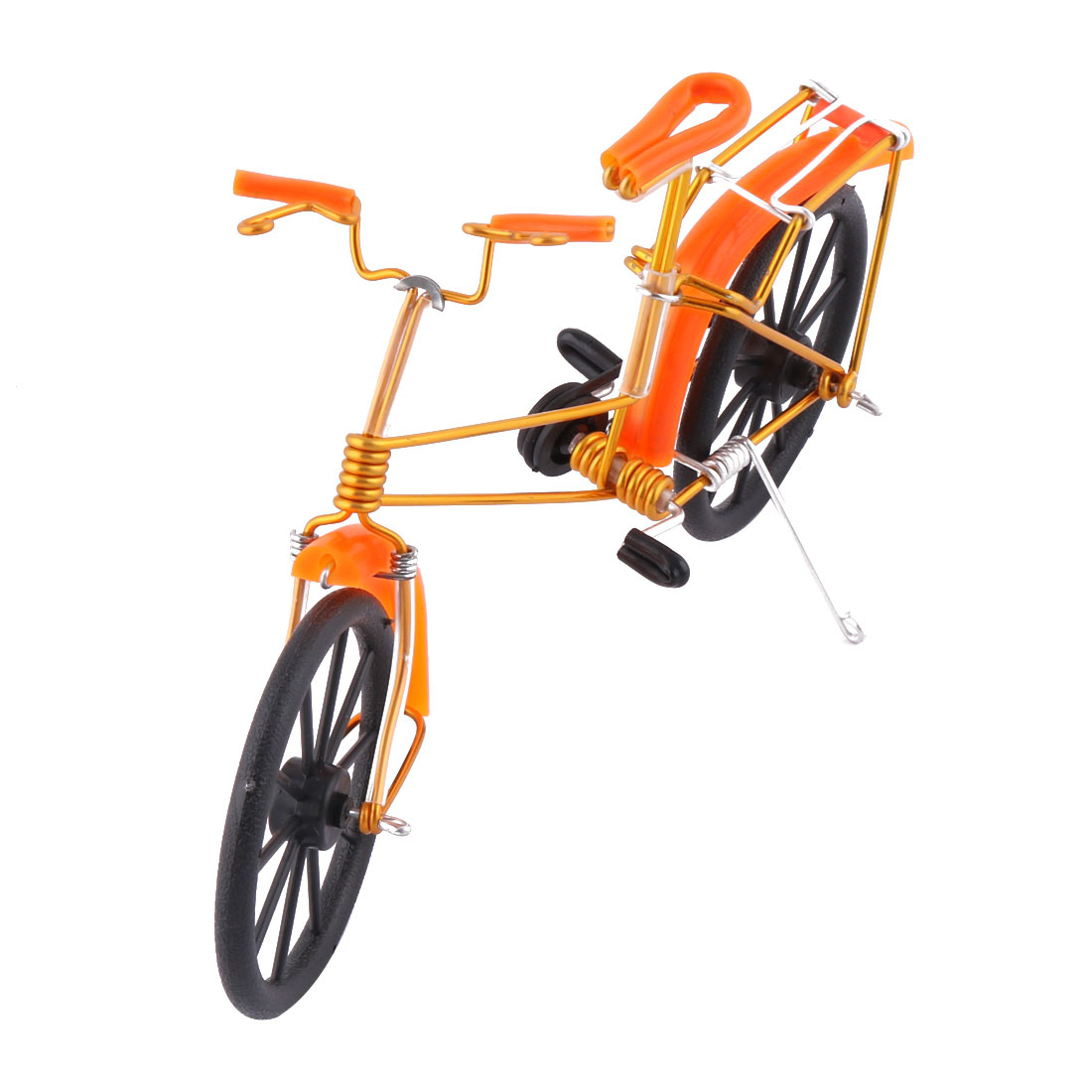 Aluminium Alloy Vintage Style Table Decor Handmade Toy Gift Bicycle Model Orange