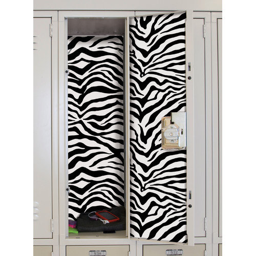Room Mates Zebra Locker Skins Wall Mural