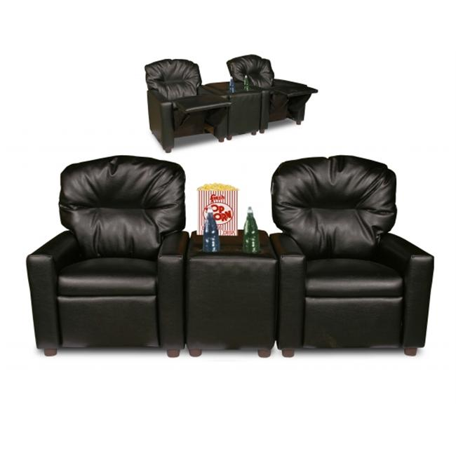 Dozydotes 10772 Theater Seating Black Leather Like (CHILD SIZE)