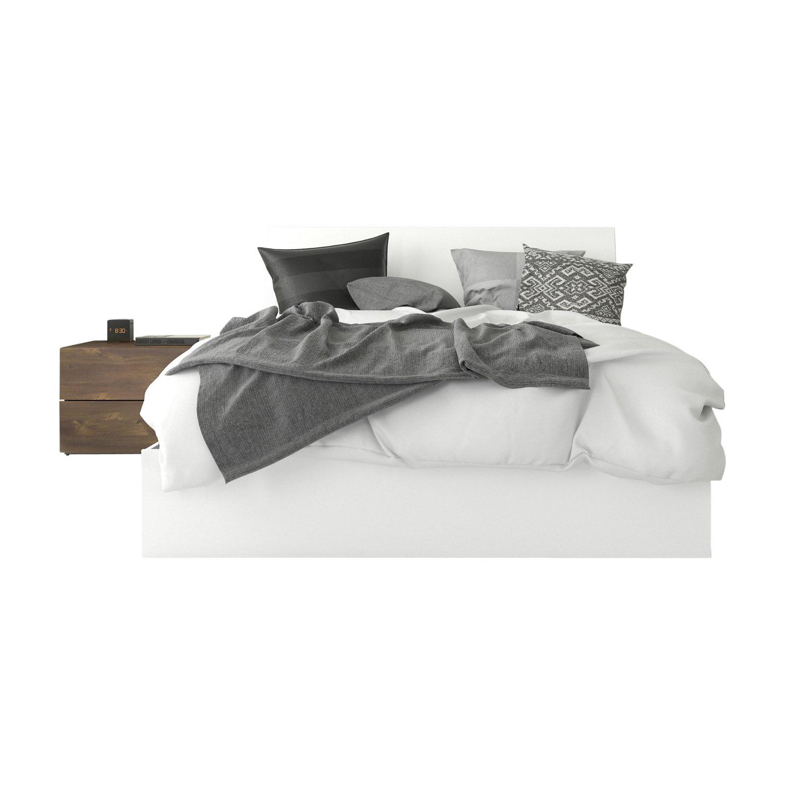 Nexera Compass Platform Storage Bed with Nightstand by Nexera