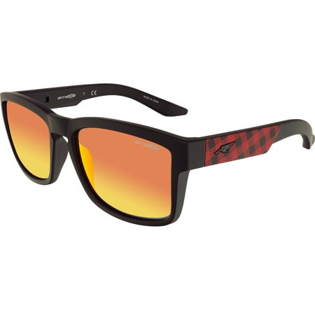 Arnette Men's Mirrored Turf AN4220-23466Q-57 Black Square (Arnette Accessories)