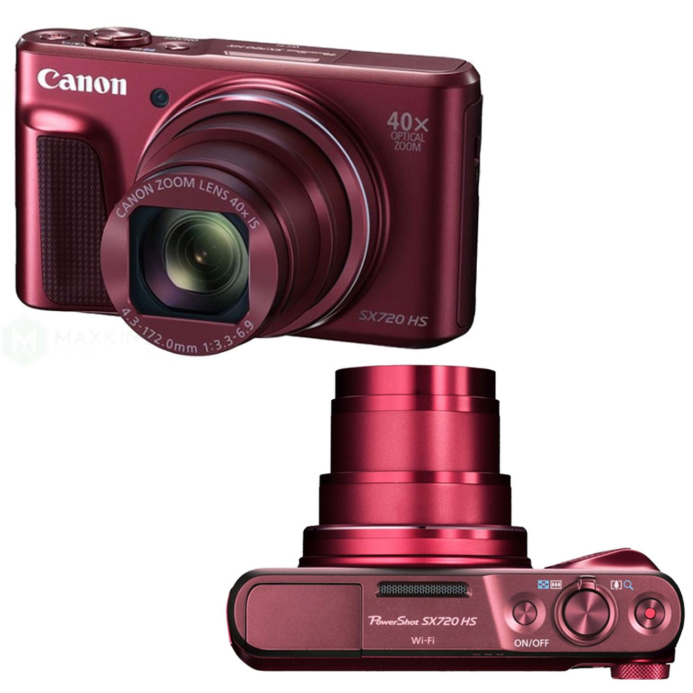 Canon Powershot Sx720 Hs 203mp 40x Zoom Built In Wifi Nfc Full Hd Digital Camera 1080p Point And Shoot Red Bundle