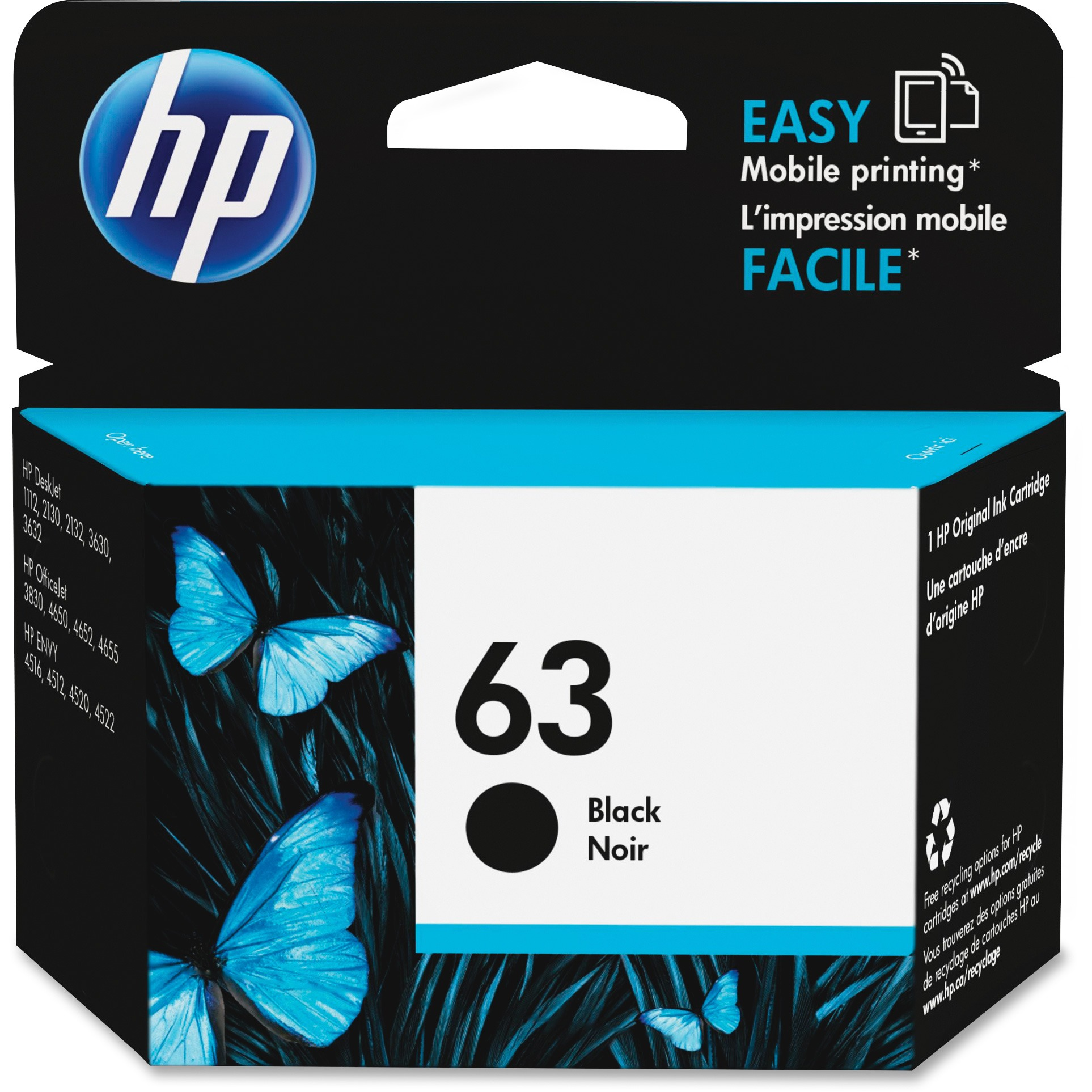 HP 63 Black ink cartridge (F6U62AN)