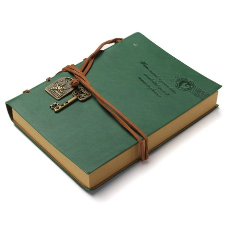Meigar Vintage Key Pendant String Leather Cover Blank Diary Notebook Journal Notepad