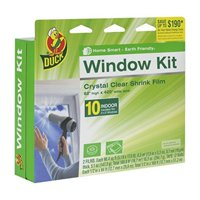 Duck Brand Indoor 10-Window Shrink Film Insulator Kit, 62-Inch x 420-Inch, 281506