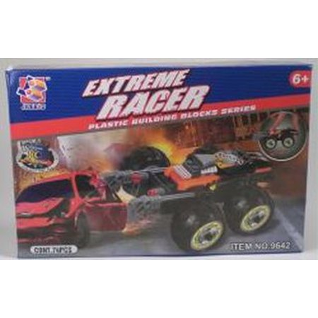 Extreme Racer Muscle Car Pull Back And Go Plastic Building Blocks Toy