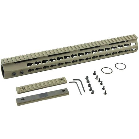 Km15c Dark Earth De 15quot Tactical Free Float Handguard Keymod