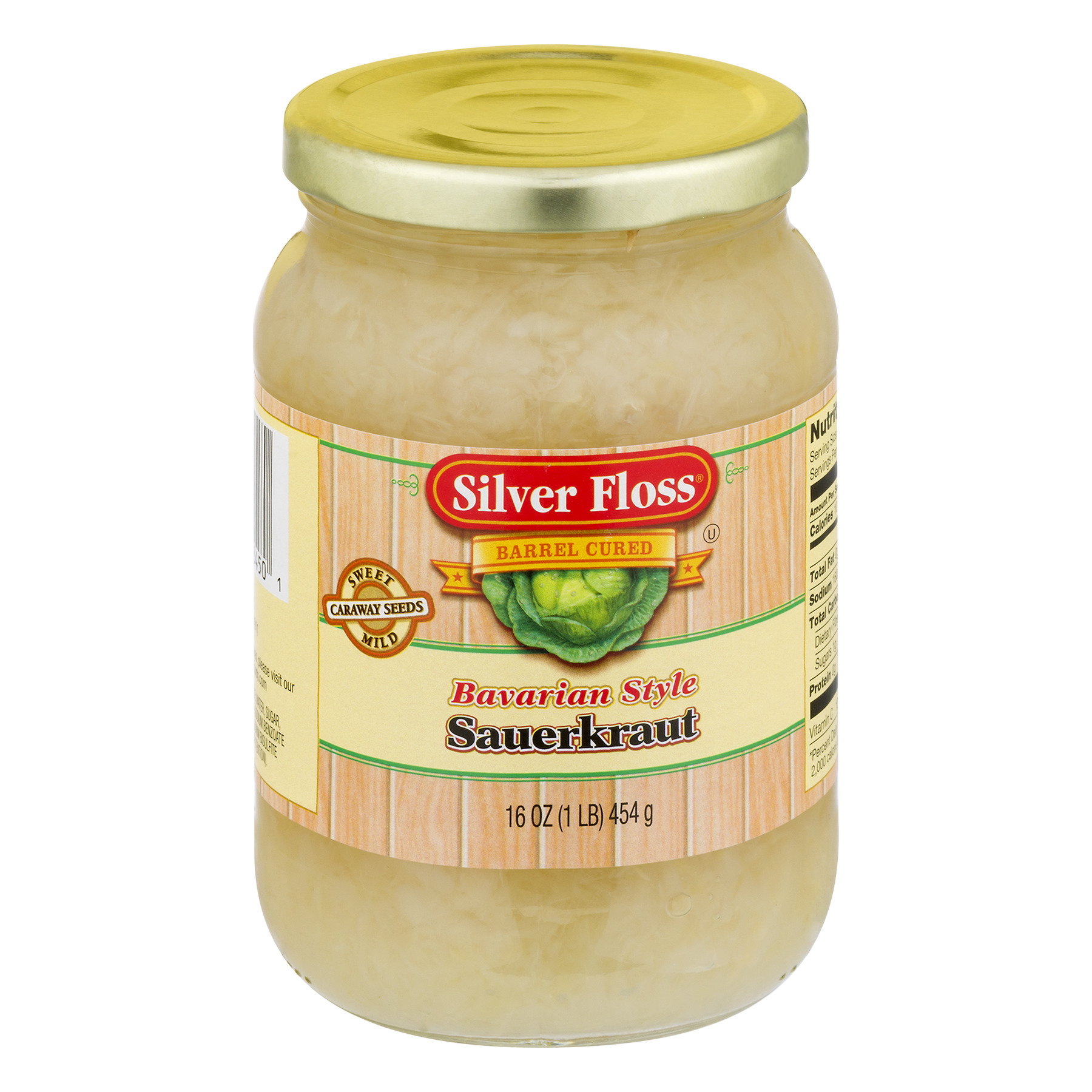 Sliver Floss Barrel Cured Bavarian Style Sauerkraut, 14.4 OZ