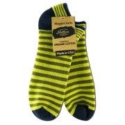 Maggie's Organics - Footie Socks, Stripe Green 10-13