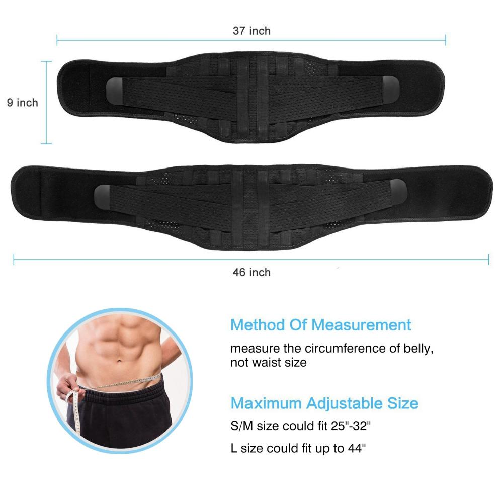 Yosoo Back Brace Breathable Lumbar Support Belt for Lower Back Pain Features Double Adjustable
