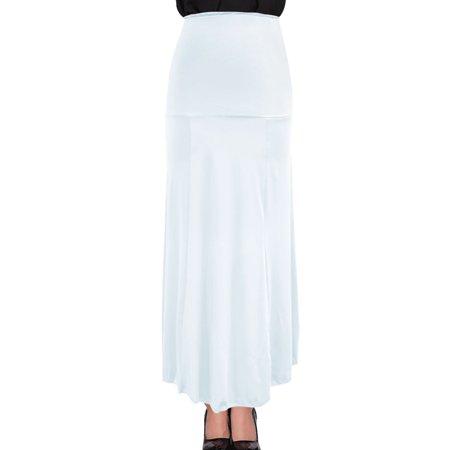 Women's Summer Wearing Elastic Waist Stretch Beach Skirt White (Size M / 8)–Walmart-Cash Back