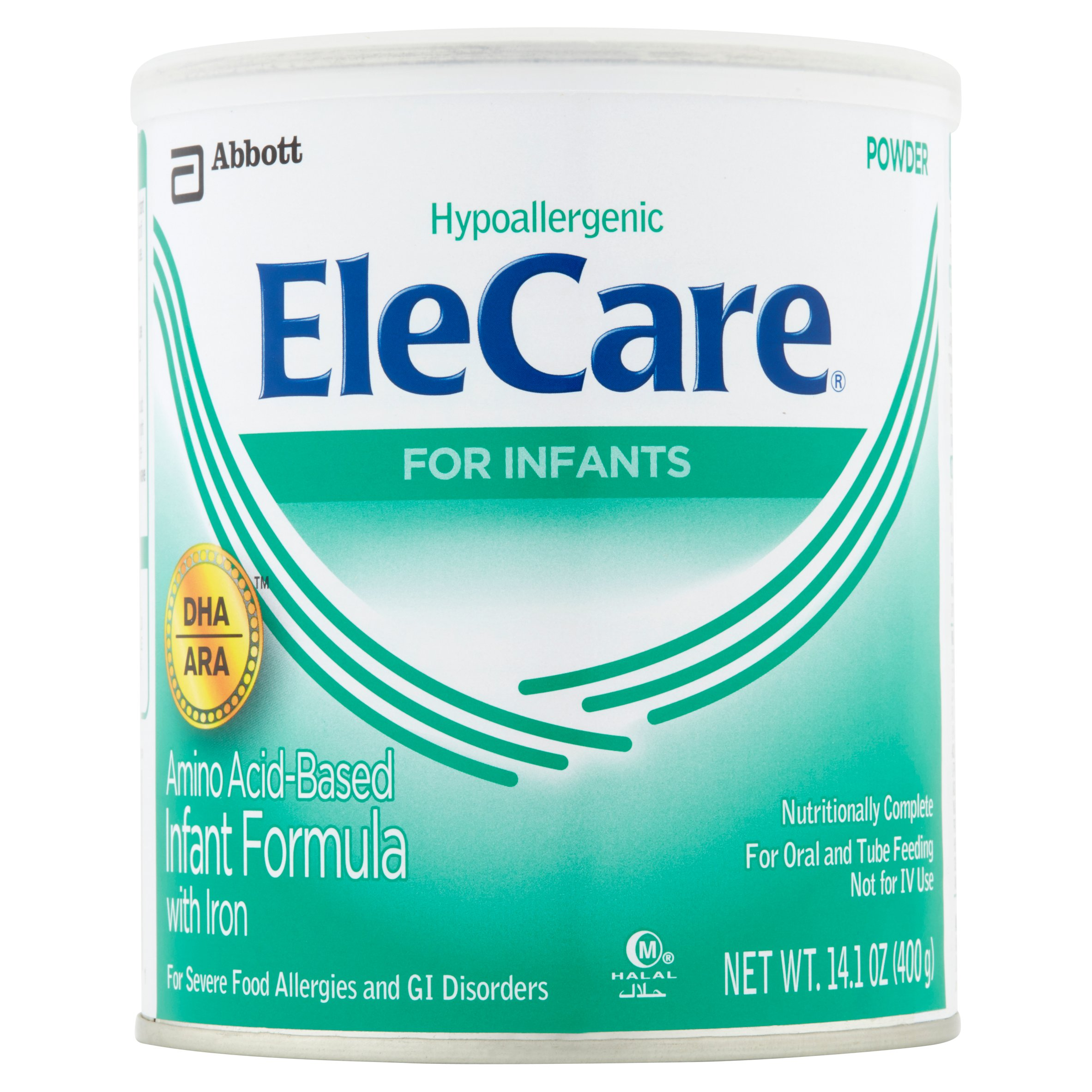 EleCare Canned Powder Infant Formula with Iron, 14.1 oz (Pack of 6) by Elecare