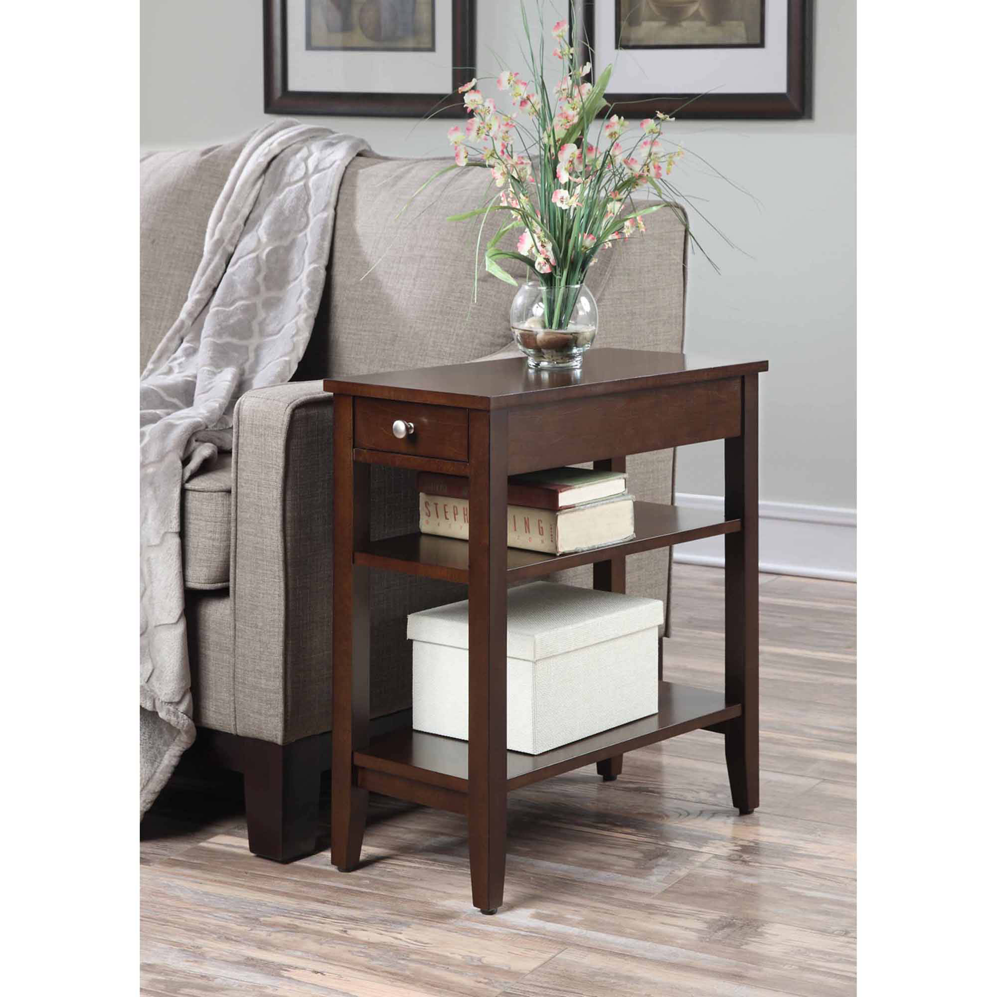 End table with drawer - Convenience Concepts American Heritage 3 Tier End Table With Drawer Multiple Colors Walmart Com