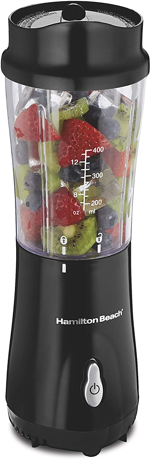Red Hamilton Beach Personal Blender with 14oz Travel Cup and Lid 51101AV Black 51101RV /& Hamilton Beach Personal Blender for Shakes and Smoothies with 14oz Travel Cup and Lid