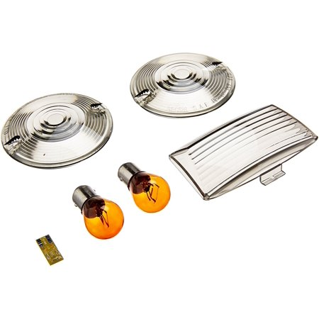 4994 Front Smoke Lens Kit, Kits include fender tip lens with L.E.D. bulb and a pair of smoke turn signal lenses with red or amber incandescent bulbs By (Smoke Lens Kit)