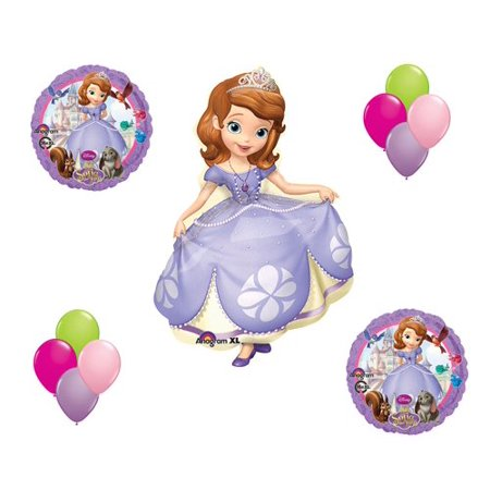 Sofia the First Disney Princess Mylar Latex Balloon Set Birthday Party Bouquet, By Anagram - Sofia The First Table Cloth