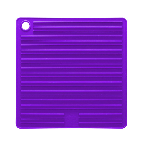 Mastrad Orka Silicone Pot Holder & Trivet, Purple