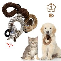 Squeaky Toys for Puppies, Value 3 Pack Set of Dog Chew Toy for Teething Chewing and Playtime, No Stuffing Plush Animal Dog Toy Set for Small Medium Large Dog Pets