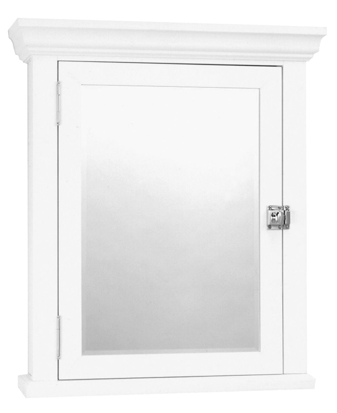 Zenith Bathroom Cabinets: Zenith Medicine White MC10WW Cabinet With Decorative Pediment