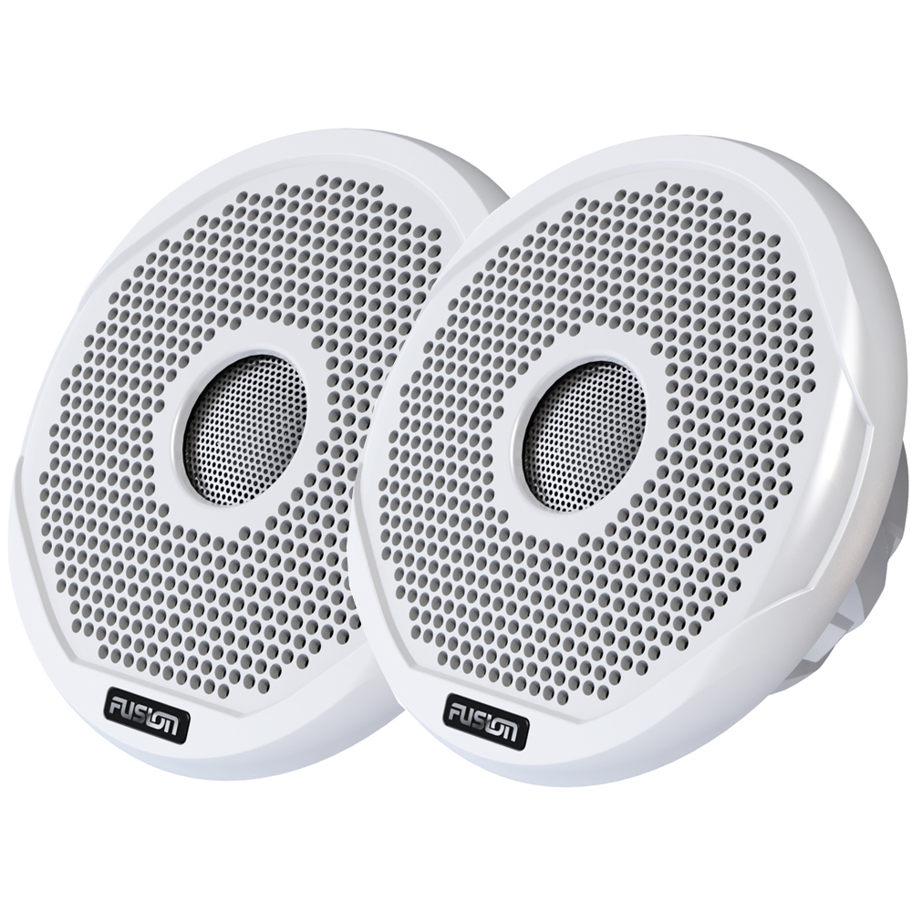 """Fusion Marine 2-Way Speakers 4"""" High Performance IPX65, White Grill"""