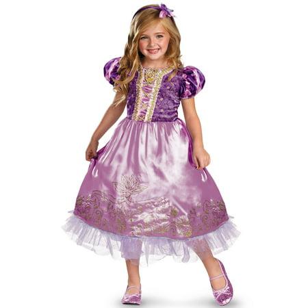 Disney Princess Rapunzel Sparkle Deluxe Child Costume - Kids Disney Princess Costumes