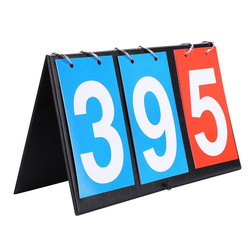 Portable Flip Scoreboard Sports Score Board 3//4 Digit Scoreboard Table Top Score Conuter for Volleyball//Basketball//Table Tennis//Football